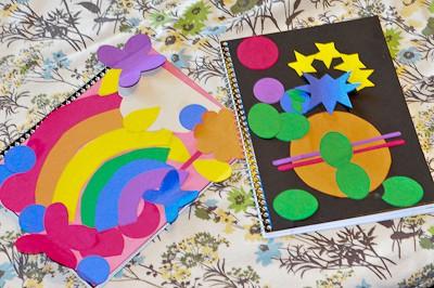 Decorated Notebooks PreSchooler Craft from Gummy Lump-6