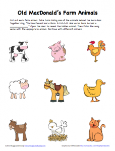 image regarding Printable Images of Animals called Peek-A-Boo Farm Pets Sport (Absolutely free Printable) - Buggy