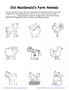 Peek A Boo Farm Animals Activity Free Printable on barn construction