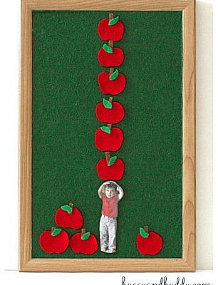 Personalized Felt Counting Set with Ten Apples Up On Top!