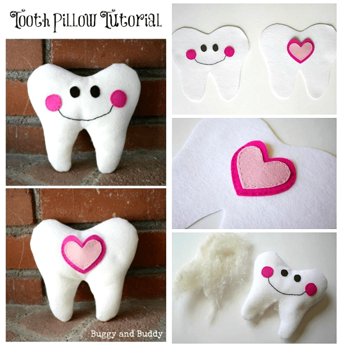 DIY Felt Tooth Fairy Pillow