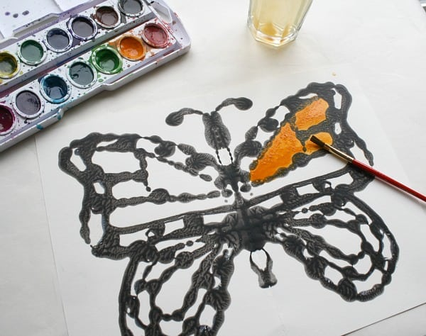 watercolor monarch butterfly