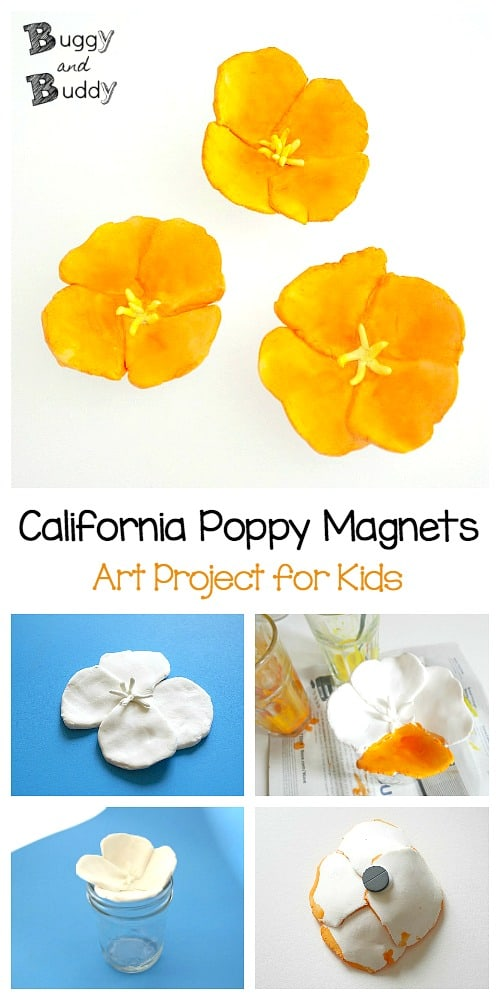 California Poppy Magent- Flower Craft for Kids