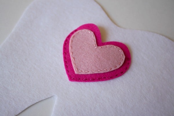 sew on heart pocket