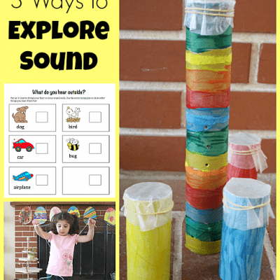 3 Science Activities for Kids to Explore Sound {Discover & Explore Linky}