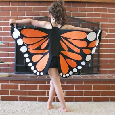 DIY Felt Monarch Butterfly Wings Tutorial