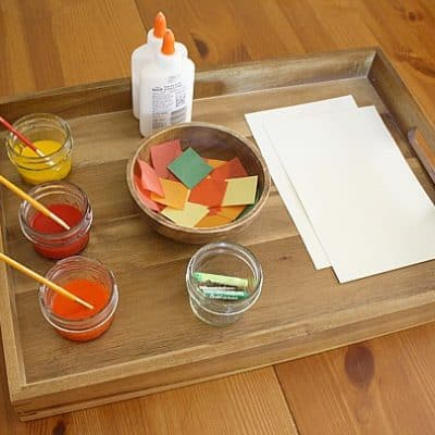 Fall Art Projects: Invitation to Create Using Fall Colors