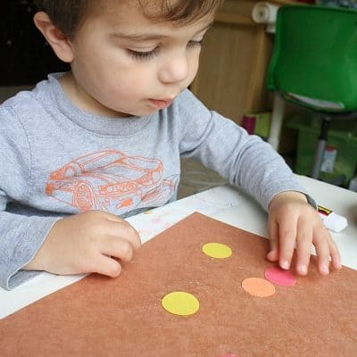 Invitation to Create: Fall Art for Toddlers with Circles