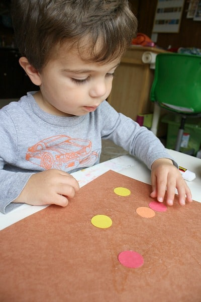 Invitation to Create: Fall Colored Circle Art for Toddlers~ Buggy and Buddy