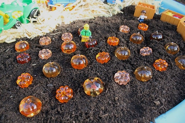 Fall Invitation to Play: Pumpkin Patch Small World~ Buggy and Buddy
