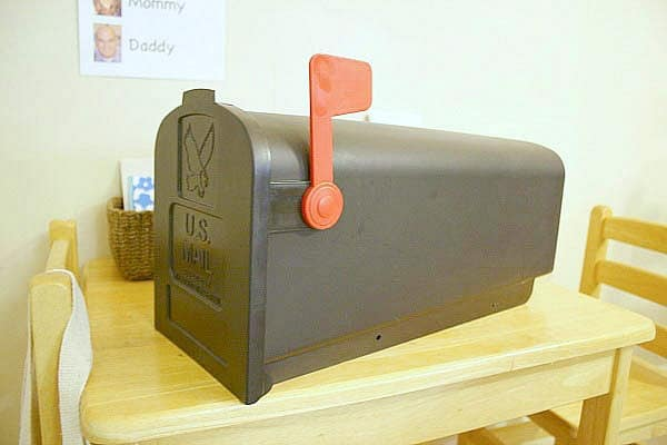 use a real mailbox in your post office center