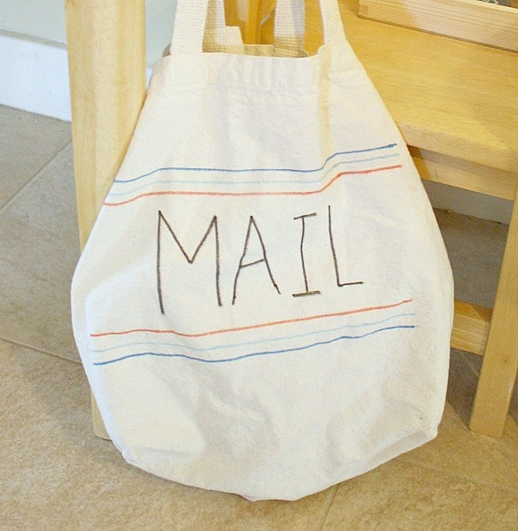 make a mail bag for your post office center