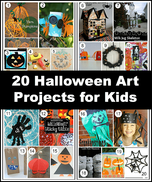 follow our halloween for kids pinterest board 20 halloween art projects - Preschool Halloween Art Projects