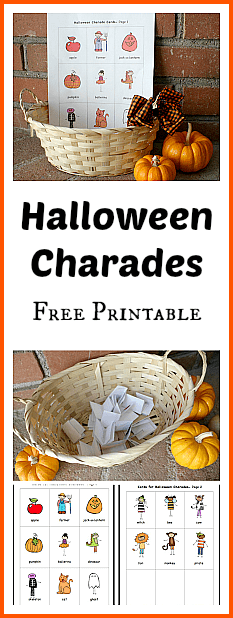 halloween games for kids free printable halloween charades fun party classroom or - Esl Halloween Games