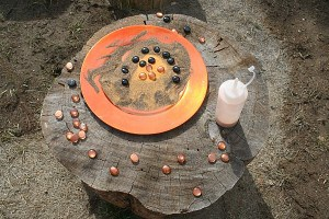 Halloween Activity for Kids: Playing and Creating with Sand and Glass Gems
