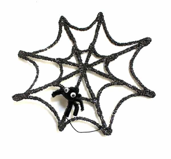 halloween crafts for kids glitter spider web and spider buggy and buddy. Black Bedroom Furniture Sets. Home Design Ideas