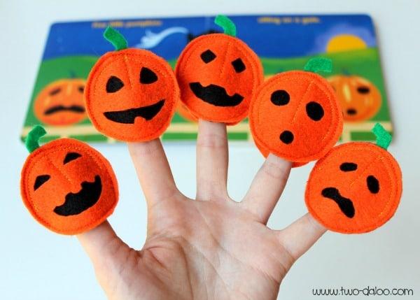 Five Little Pumpkins Finger Puppets