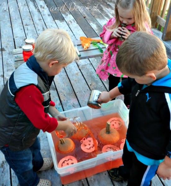 Pumpkin Themed Sensory Invitation to Play