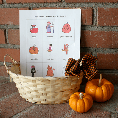 Free Printable Halloween Charades Game for Kids