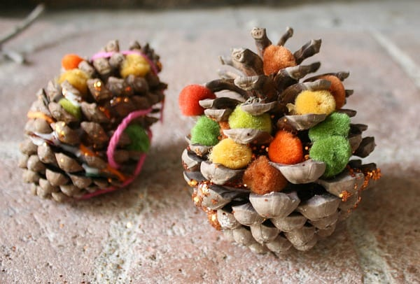 Decorate Pinecones for Fall