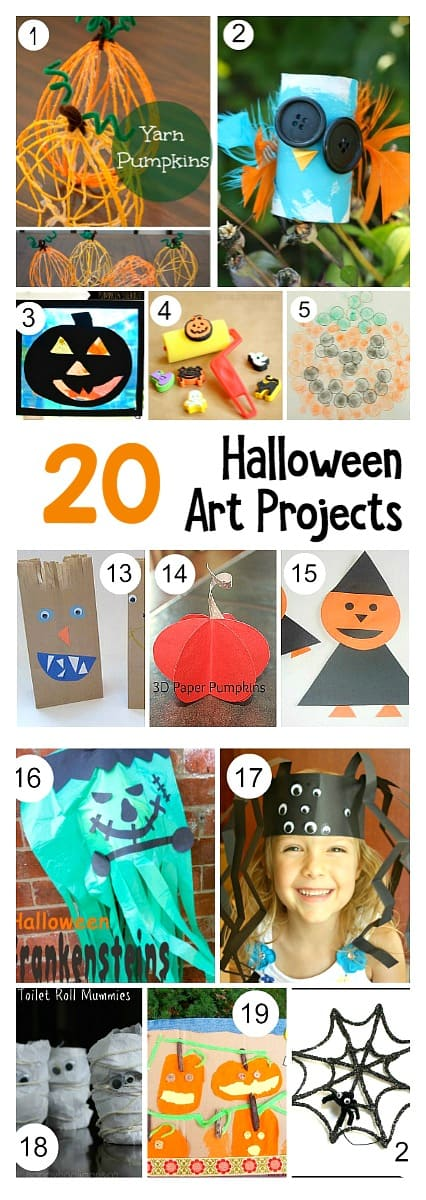 20 Halloween art projects and Crafts for kids