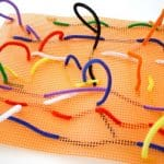 Art Projects for Kids: Creating with Plastic Canvas and Pipe Cleaners (Reusable!)