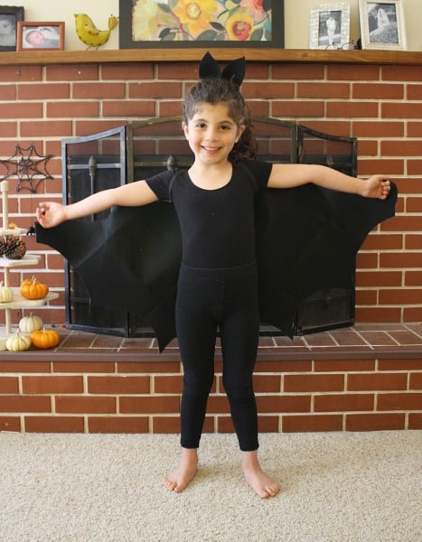 Homemade Halloween Costume: Felt Bat Wings