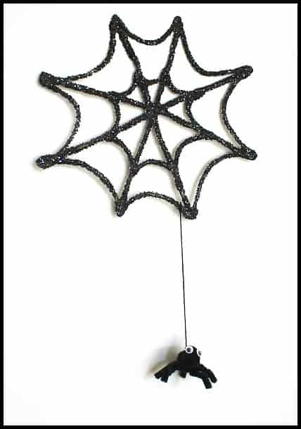 Halloween Decoration: Sparkly Spiderweb & Spider~ Buggy and Buddy