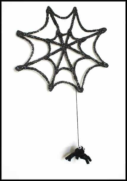 Halloween Decoration: Sparkly Spiderweb & Spider~ Buggy and Buddy