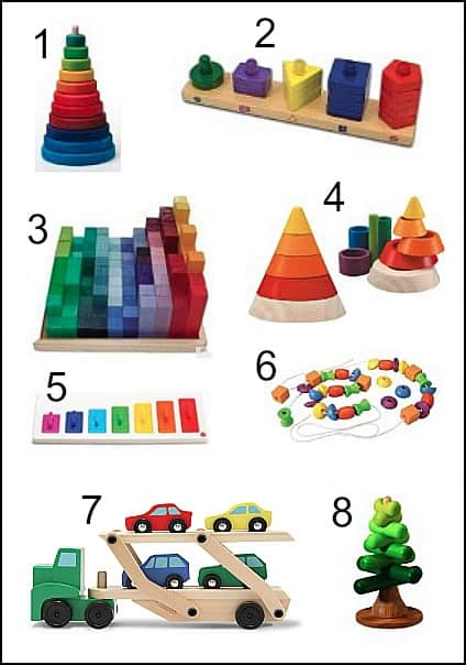 Colorful Wooden Toys for Toddlers