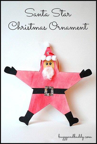 Homemade Christmas Ornaments: Santa Star ~ BuggyandBuddy.com