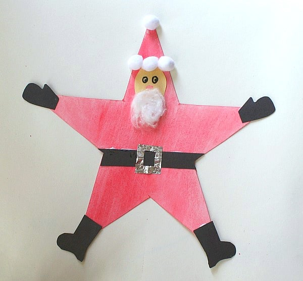 Homemade Christmas Ornaments: Santa Star