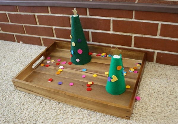 Felt Christmas Tree Activity for Kids
