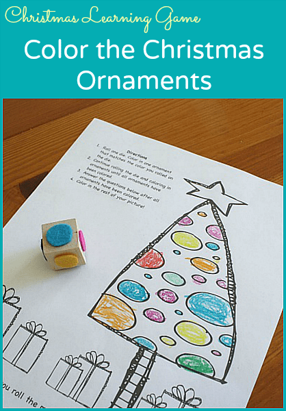 Christmas Game for Kids: Color the Christmas Ornaments (FREE Printable)~ Buggy and Buddy