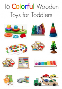 Gift Ideas for Toddlers: 16 Colorful Toys Made from Wood