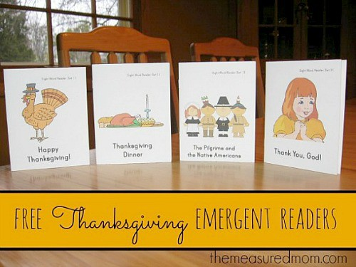Free Thanksgiving Emergent Readers