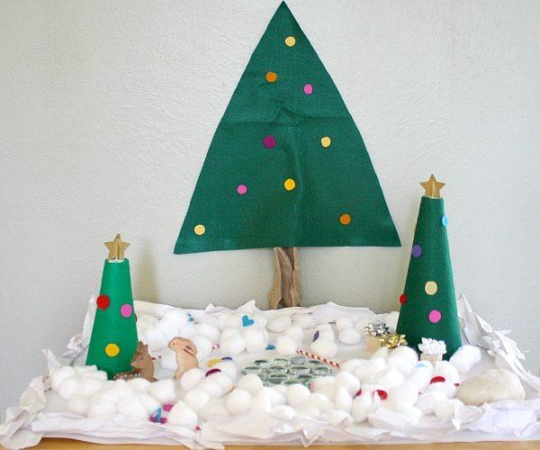 Snow Christmas Tree Small World~ Buggy and Buddy