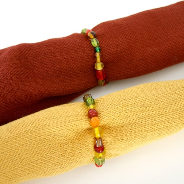 Thanksgiving Crafts for Kids: Beaded Napkin Rings - Buggy ...