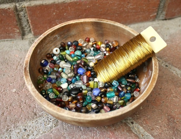 Supplies for Making Beaded Napkin Rings
