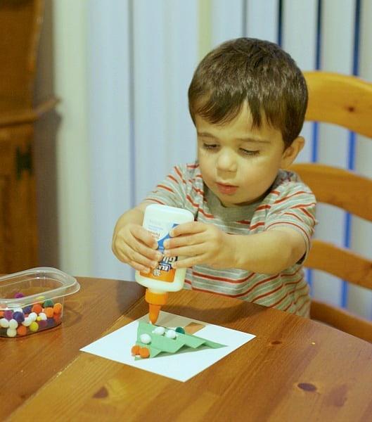 toddler made christmas craft