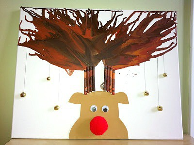 Rudolph Melted Crayon Antlers~ Rockabye Butterfly