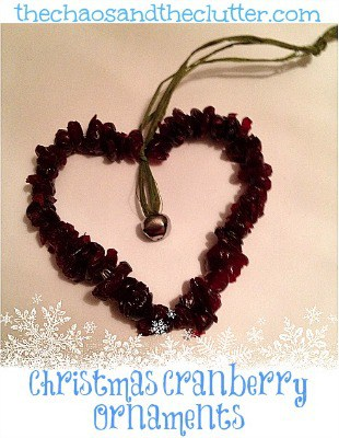 Christmas Cranberry Ornament~ The Chaos and the Clutter