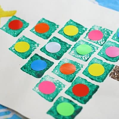 Christmas Tree Crafts: Shape Christmas Tree Sponge Painting
