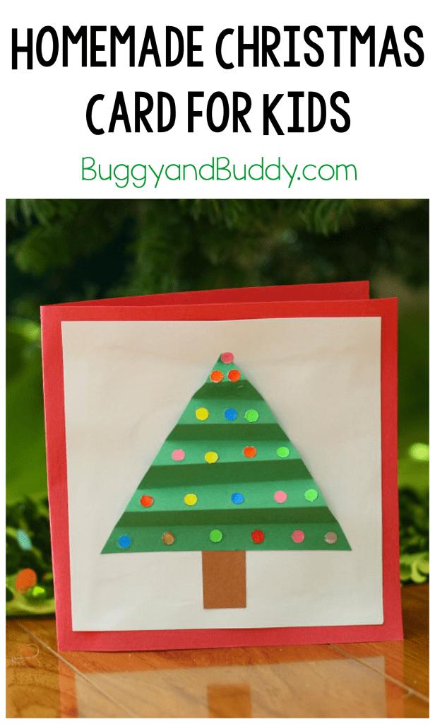 Christmas Crafts for Kids: Homemade Christmas Card - Buggy and Buddy