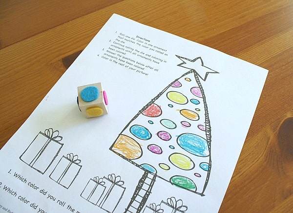 Christmas Game for Kids: Color the Ornaments (Free Printable)~ BuggyandBuddy.com