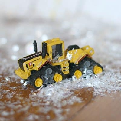 Inside Activities for Kids: Snowy Toy Car Ramp