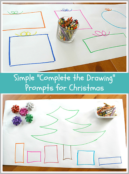 Such a simple activity for Christmas that kids love! (Complete the Drawing~ BuggyandBuddy.com)