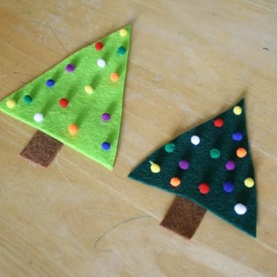 Easy Christmas Crafts for Kids: Felt Christmas Tree Pin