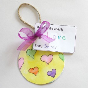 Christmas Crafts for Kids: Gift to the World Ornament