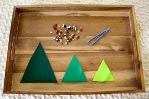 Fine Motor Activities: Decorate the Felt Christmas Trees